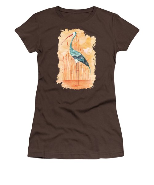 An Exotic Stork Women's T-Shirt (Junior Cut) by Timmy Timone