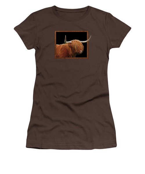Bad Hair Day - Highland Cow Square Women's T-Shirt (Junior Cut) by Gill Billington