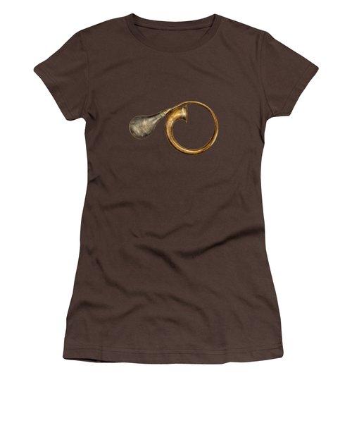 Antique Brass Car Horn Women's T-Shirt (Junior Cut) by YoPedro