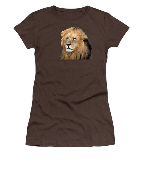 Masai Mara Lion Portrait    Women's T-Shirt (Junior Cut) by Aidan Moran