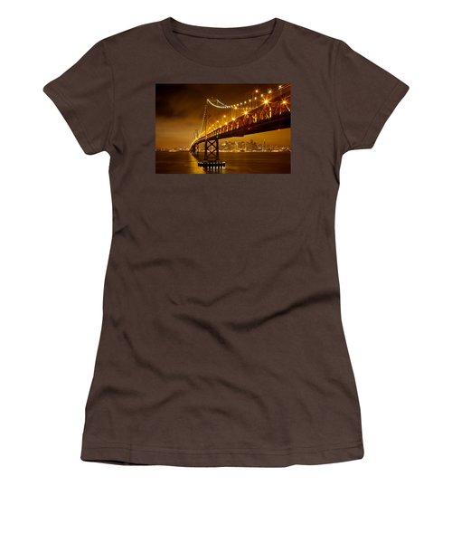 Women's T-Shirt (Junior Cut) featuring the photograph Bay Bridge by Evgeny Vasenev