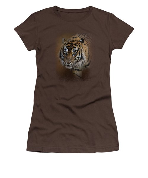 Bengal Stare Women's T-Shirt (Junior Cut) by Jai Johnson