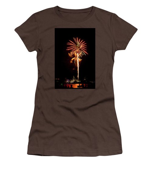 Women's T-Shirt (Junior Cut) featuring the photograph Celebration Fireworks by Bill Barber
