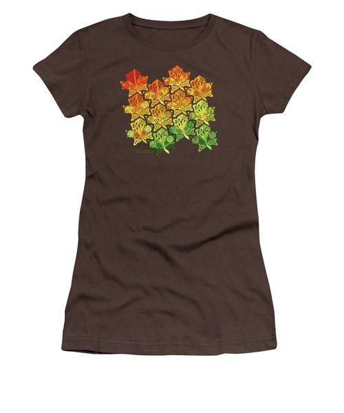 Women's T-Shirt (Junior Cut) featuring the mixed media Celtic Leaf Transformation by Kristen Fox