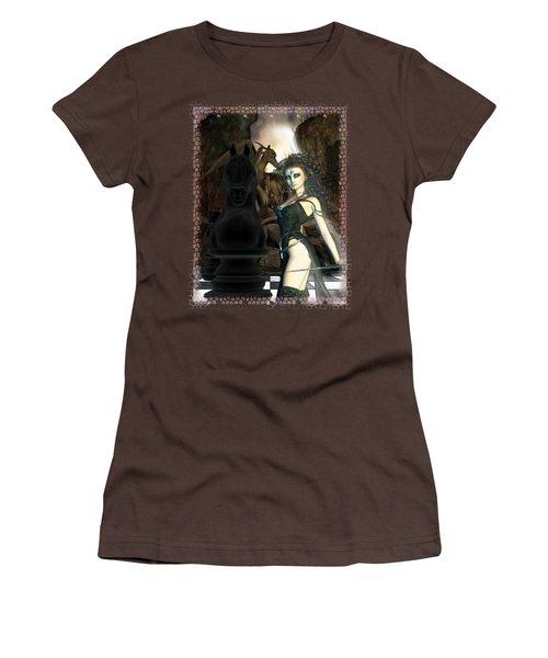 Chess 3d Fantasy Art Women's T-Shirt (Junior Cut) by Sharon and Renee Lozen