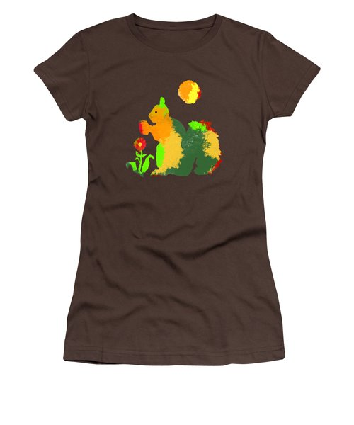 Colorful Squirrel 1 Women's T-Shirt (Junior Cut) by Holly McGee