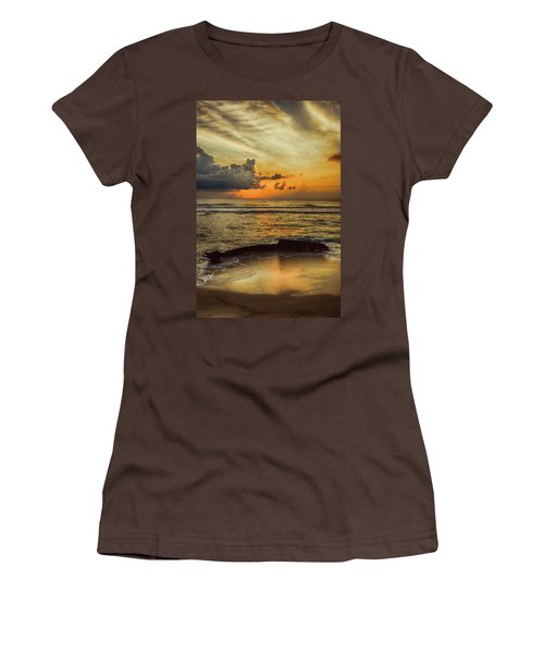 Women's T-Shirt (Junior Cut) featuring the photograph Destruction Of An Outer Banks Shipwreck by Dan Carmichael