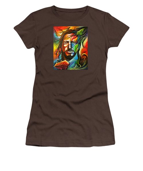 Eddie Vedder Women's T-Shirt (Junior Cut) by Robert Stokley