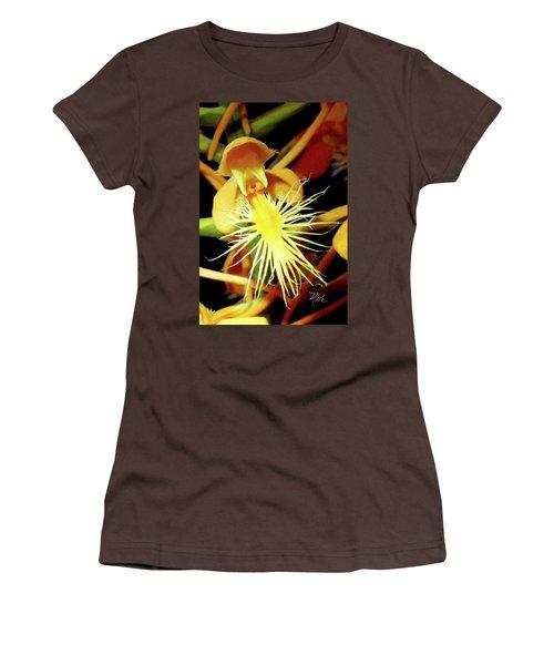 Women's T-Shirt (Junior Cut) featuring the photograph Fringed Yellow Orchid by Meta Gatschenberger