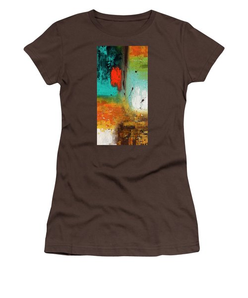 Women's T-Shirt (Junior Cut) featuring the painting Landmarks by Carmen Guedez