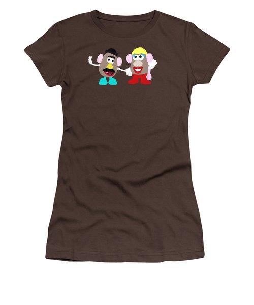 Mr. And Mrs. Potato Head Women's T-Shirt (Junior Cut) by Priscilla Wolfe