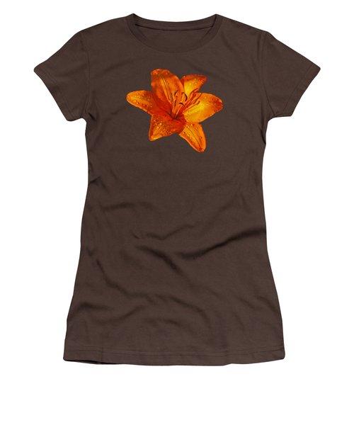 Orange Lily In Sunshine After The Rain Women's T-Shirt (Junior Cut) by Gill Billington