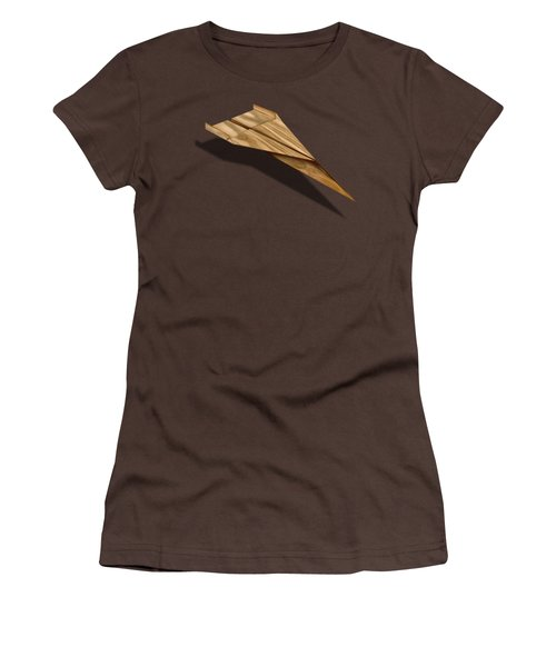 Paper Airplanes Of Wood 3 Women's T-Shirt (Junior Cut) by YoPedro