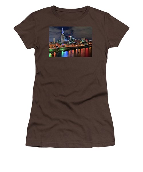 Rainbow On The River Women's T-Shirt (Junior Cut) by Frozen in Time Fine Art Photography