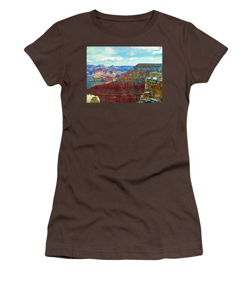 Women's T-Shirt (Junior Cut) featuring the photograph Rock Solid by Roberta Byram