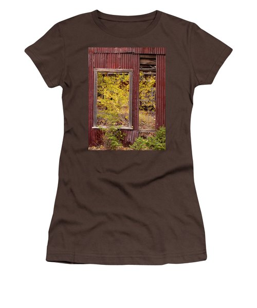 Women's T-Shirt (Junior Cut) featuring the photograph Rustic Autumn by Leland D Howard