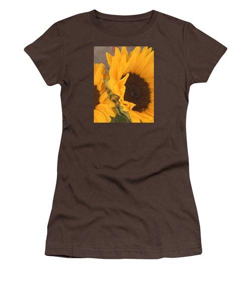 Women's T-Shirt (Junior Cut) featuring the digital art Sun Flower by Jana Russon
