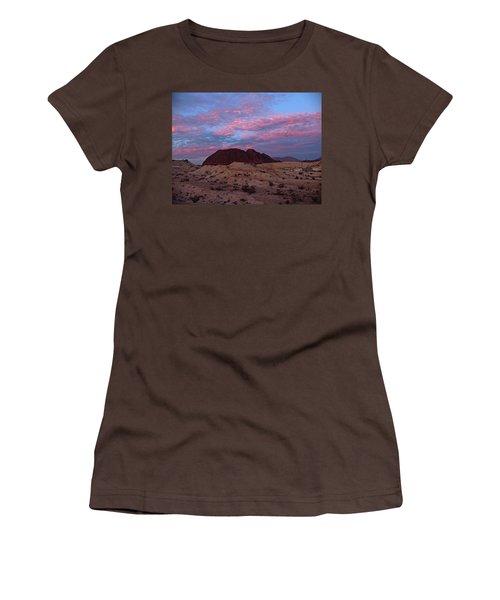 Women's T-Shirt (Junior Cut) featuring the painting Terlingua Sunset by Dennis Ciscel