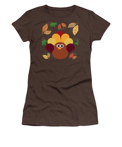 Thanksgiving Turkey Women's T-Shirt (Junior Cut) by UMe images