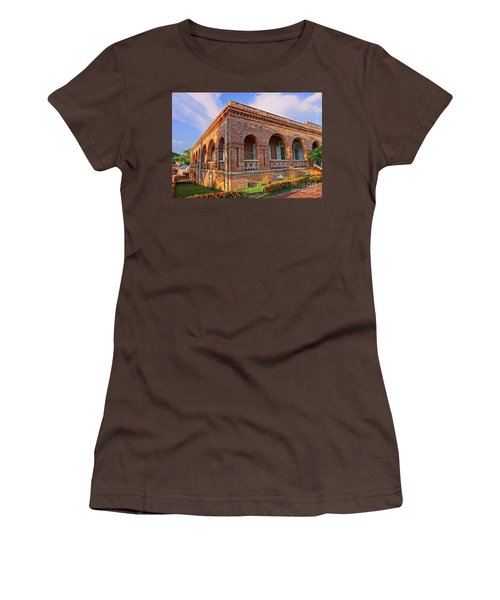 Women's T-Shirt (Junior Cut) featuring the photograph The Former British Consulate In Kaohsiung In Taiwan by Yali Shi