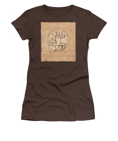 Vitruvian Squirrel Women's T-Shirt (Junior Cut) by Katherine Nutt