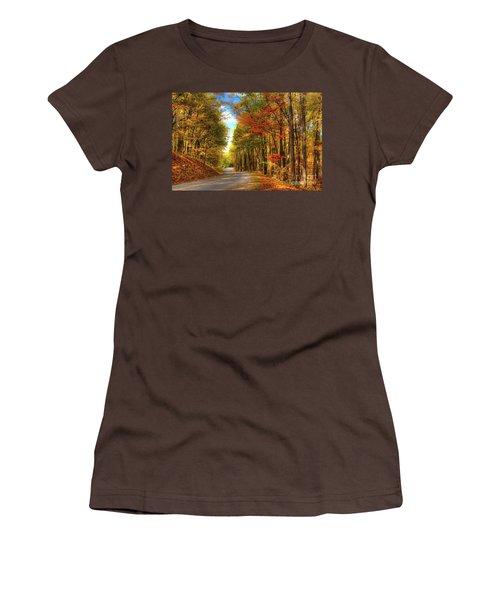 Women's T-Shirt (Junior Cut) featuring the photograph Vivid Autumn In The Blue Ridge Mountains by Dan Carmichael