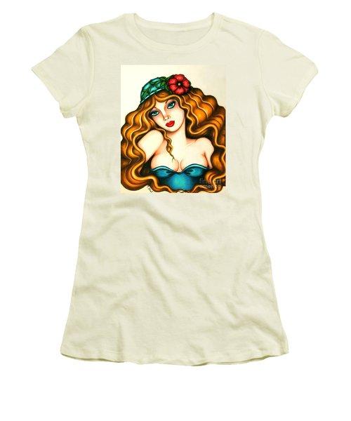 Flower Hat Women's T-Shirt (Athletic Fit)