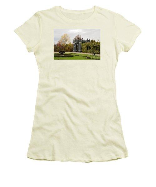 Women's T-Shirt (Junior Cut) featuring the photograph  Garden Gate Schonbrunn Palace Vienna Austria by Imran Ahmed