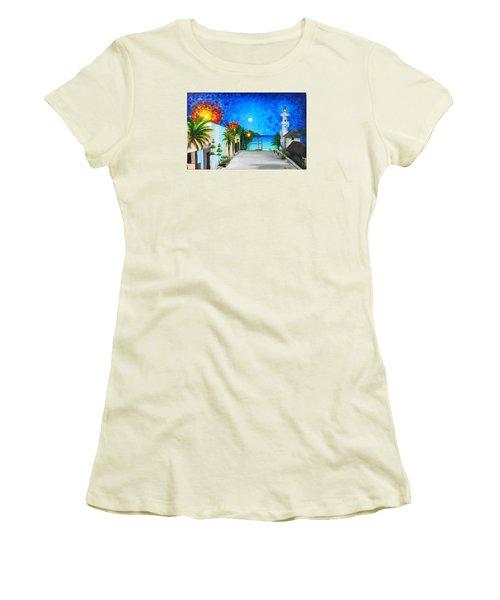 Light House Playa Del Carmen Women's T-Shirt (Junior Cut) by Angel Ortiz