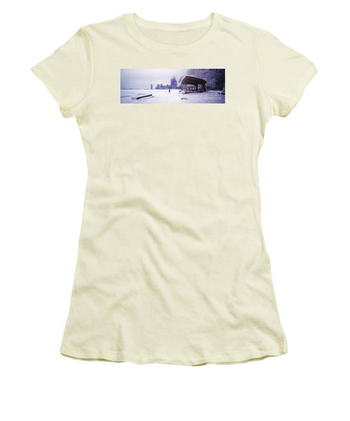 North Ave Beach Chess Palv Chicago Lake Front  Women's T-Shirt (Athletic Fit)