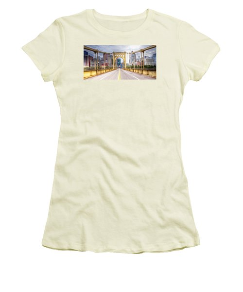0305  Pittsburgh 10 Women's T-Shirt (Junior Cut) by Steve Sturgill