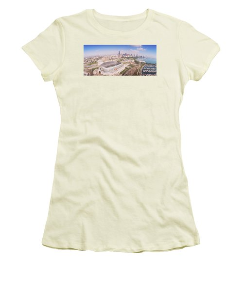 Aerial View Of A Stadium, Soldier Women's T-Shirt (Junior Cut) by Panoramic Images