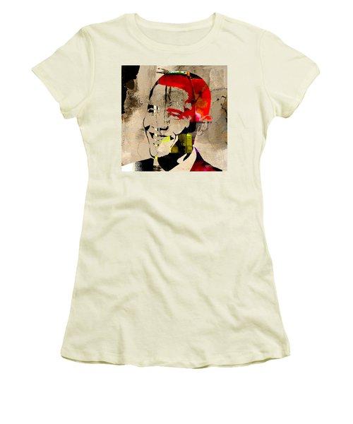 Barack Obama Women's T-Shirt (Junior Cut) by Marvin Blaine