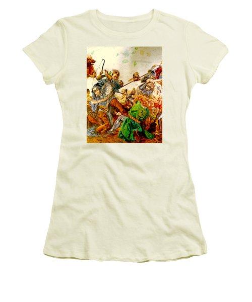 Battle Of Grunwald Women's T-Shirt (Junior Cut) by Henryk Gorecki