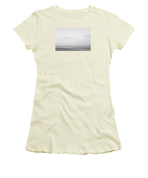 Black And White Abstract Seascape No. 01 Women's T-Shirt (Athletic Fit)