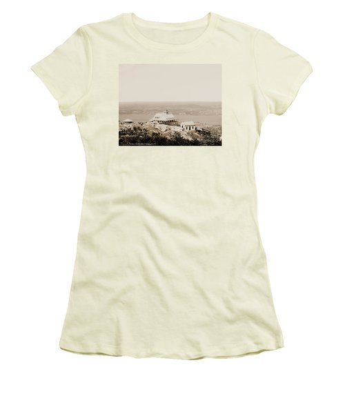 Casino At The Top Of Mt Beacon In Sepia Tone Women's T-Shirt (Athletic Fit)