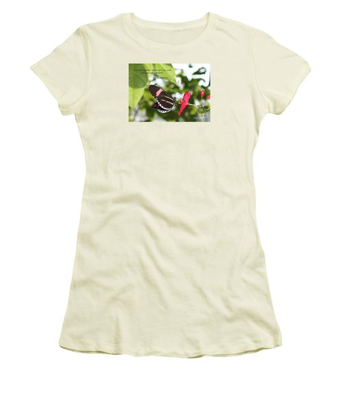 Caterpiller To A Butterfly Women's T-Shirt (Athletic Fit)