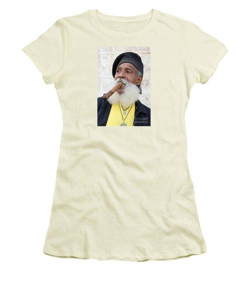Cigar Man Women's T-Shirt (Athletic Fit)