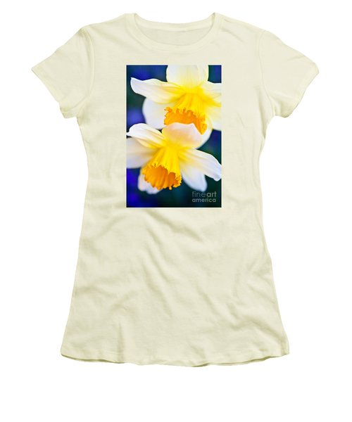 Women's T-Shirt (Junior Cut) featuring the photograph Daffodils by Roselynne Broussard