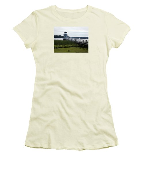Doubling Point Lighthouse Women's T-Shirt (Junior Cut) by Catherine Gagne