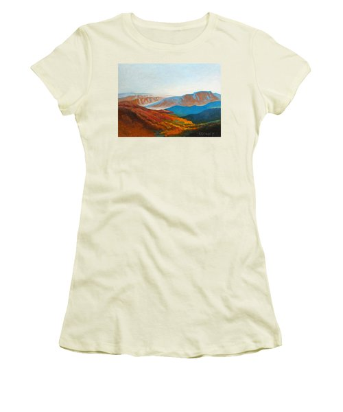 East Fall Blue Ridge Mountains 2 Women's T-Shirt (Junior Cut) by Catherine Twomey