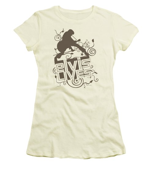 Elvis - Elvis Lives Women's T-Shirt (Athletic Fit)