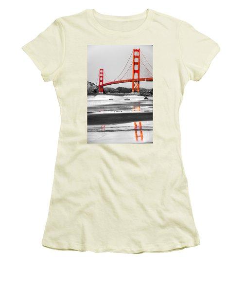 Golden Gate - San Francisco - California - Usa Women's T-Shirt (Junior Cut) by Luciano Mortula