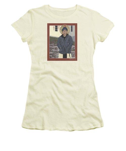 Holy World Evangelist Thomas Merton 267 Women's T-Shirt (Junior Cut) by William Hart McNichols