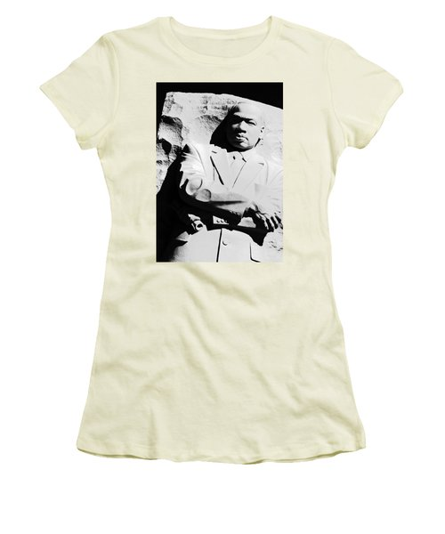 Women's T-Shirt (Junior Cut) featuring the photograph Martin Luther King Memorial by Cora Wandel