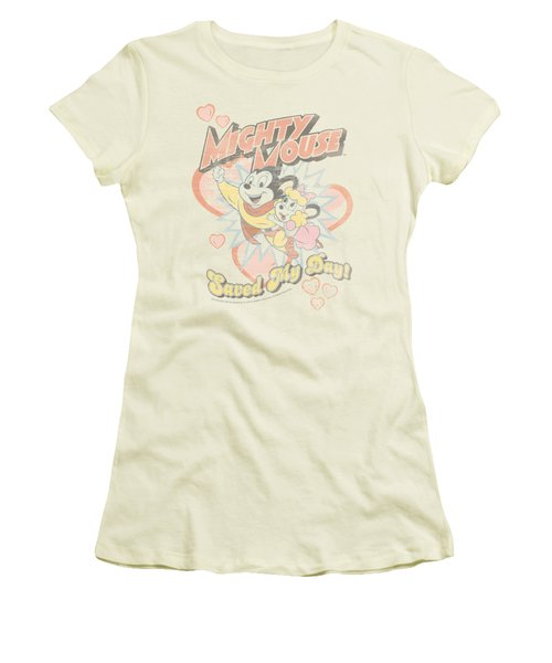 Mighty Mouse - Saved My Day Women's T-Shirt (Junior Cut) by Brand A