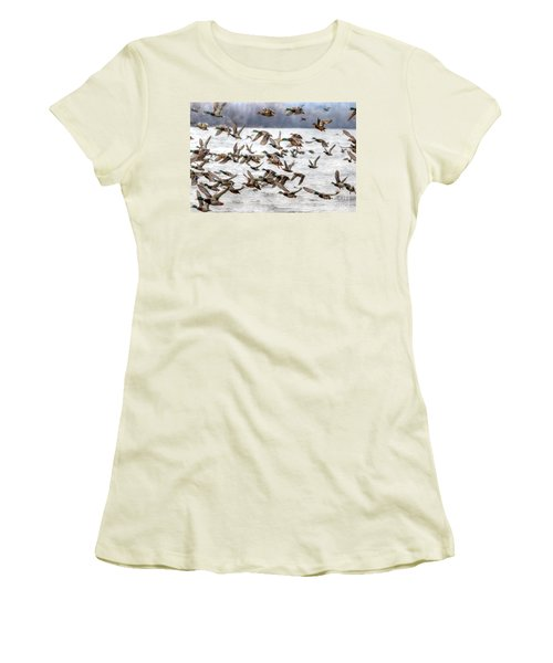 Women's T-Shirt (Junior Cut) featuring the photograph One Direction by Robert Pearson