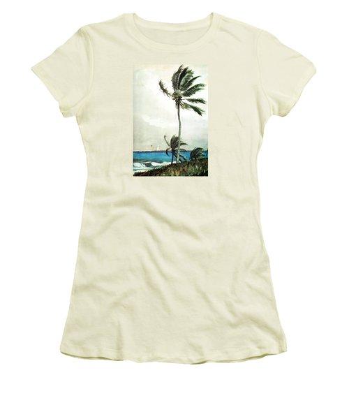 Palm Tree Nassau Women's T-Shirt (Junior Cut) by Celestial Images