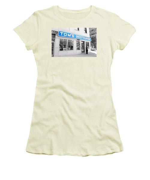 Seinfeld Diner Location Women's T-Shirt (Junior Cut) by Valentino Visentini