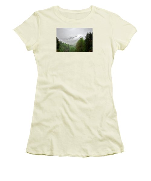 Smoky Mountains Women's T-Shirt (Junior Cut) by Lawrence Boothby